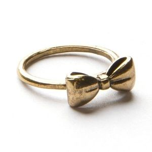 Brandy Melville Gold Bow Ring